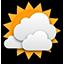 Közepesen felhős