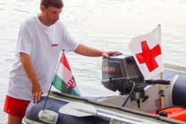 Drávai mentőhajó Barcson