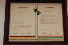 Alapító oklevél Sinsheim-Barcs
